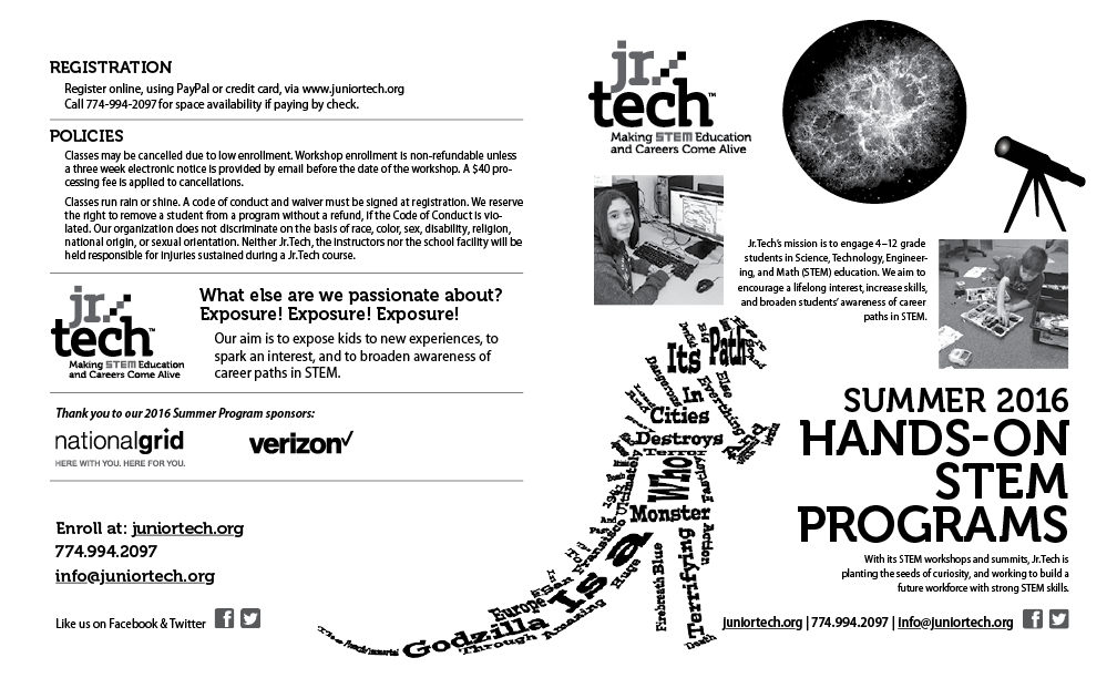 2016-Jr.Tech-Summer-STEAM-programs