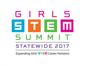 Girls STEM Summit–Statewide 2017 logo
