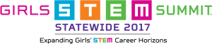 2017 Girls STEM Summit–Statewide logo