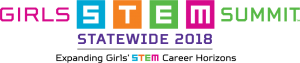 Girls STEM Summit–Statewide 2018 logo